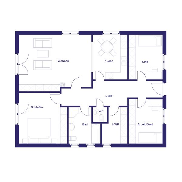 Bungalow 110+ - ARTEK Massivhaus - Wir bauen Häuser fürs Leben.